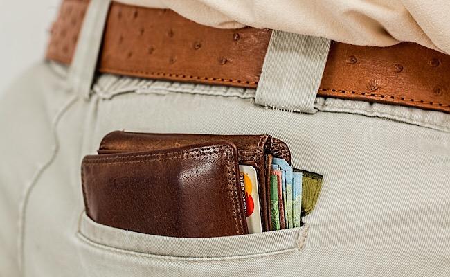 尻ポケットに財布