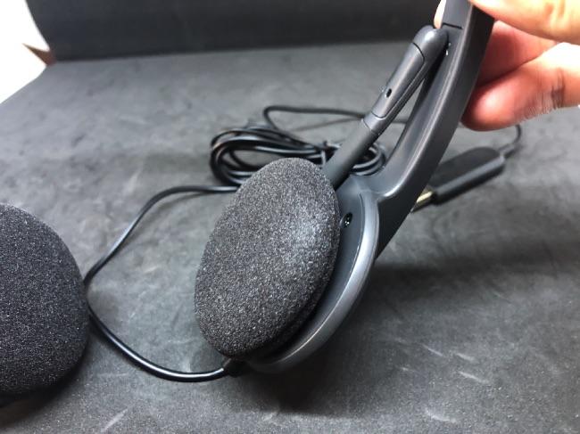 ロジクールH340の耳当ての部分